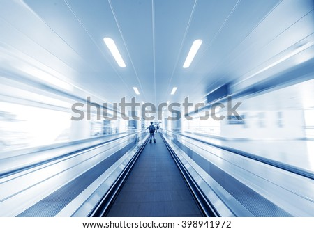 abstract image a moving escalator #398941972