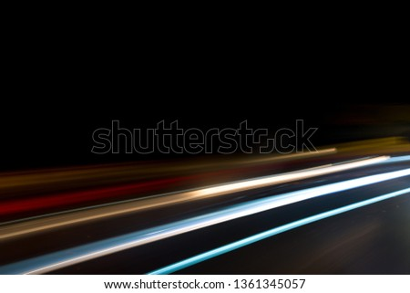 ABSTRACT IMAGE MADE WITH LIGHT PAINTING TECHNIQUE