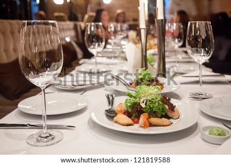 Abstract image of a celebratory table.