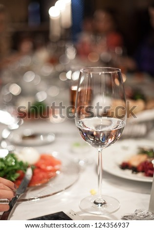 Abstract image of a celebratory table. - stock photo