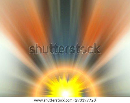 Abstract image of a flash of light. Colorful blurred background. Blurring background. Blurred light. Variety of color. Background for motivational text.