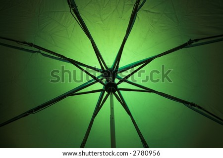 abstract image of an umbrella(back lit) (no filter or effect applied )