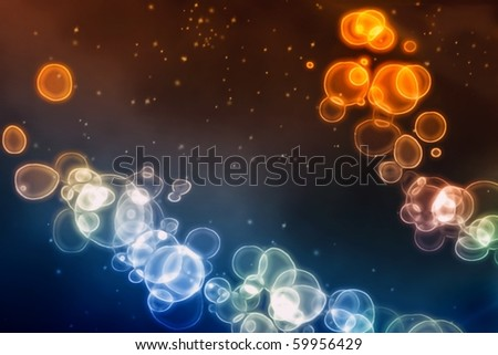 abstract image of cells under...