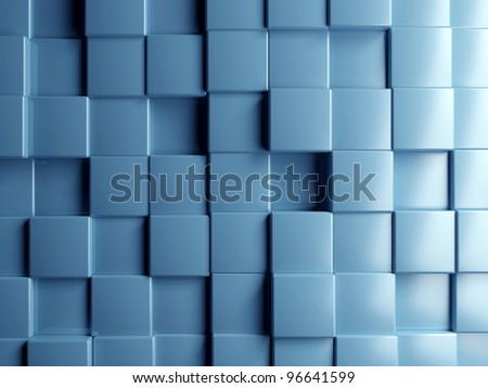 abstract image of cubes background in blue toned #96641599