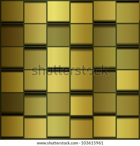 Abstract image of cubes background in golden tone