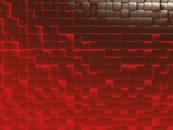 abstract image of cubes background in red and brown toned