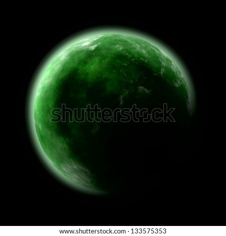 abstract image of green planet