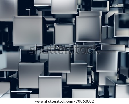 abstract image of metal cubes background