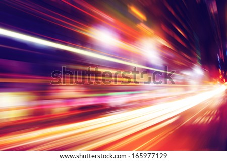 Abstract image of night traffic in the city. #165977129