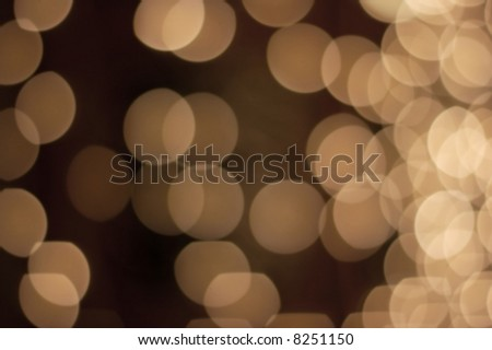 Abstract image of out of focus lights