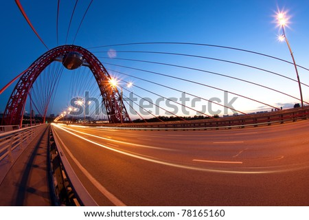 Abstract image of Red bridge. Moscow