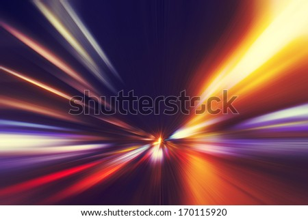Abstract image of speed motion on the road at twilight. #170115920