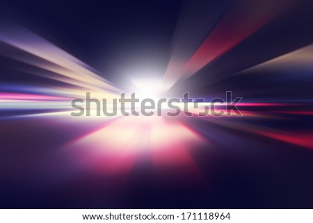 Abstract image of speed motion on the road at twilight. #171118964