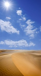 Abstract image of the surface of a sloping dune in the Sahara in Sudan, Africa