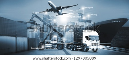 abstract image of the world logistics for support import export business and transportation