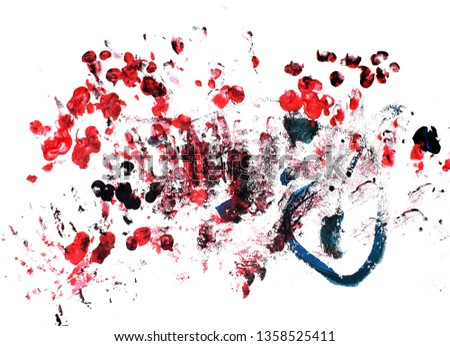 Abstract image on a white background. Drawing with your fingers.