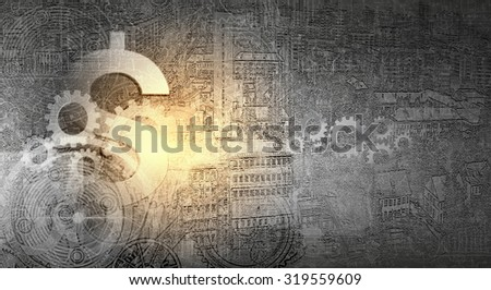 Abstract image with financial business theme and concepts