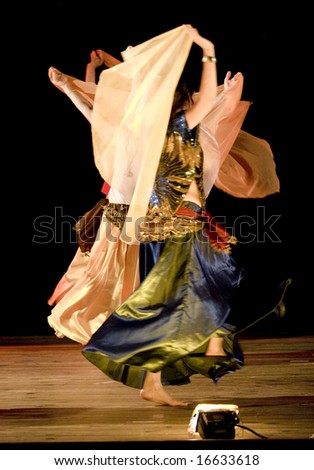 abstract images of traditional  Arab Dancers