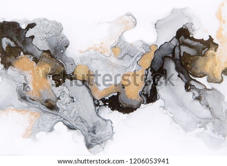 Abstract ink and acrylic background. Trend 2018.  Liquid luxury marble texture. Fluid art. Good for as a background for design cover, presentation, invitation, flyer, poster, wallpaper