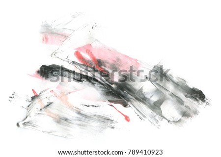 Abstract ink background. Marble style. Black and white paint stroke texture. Wallpaper for web and game design. Grunge drywall mud art. Macro image of spackling paste. Dark Smear of painterly plaster