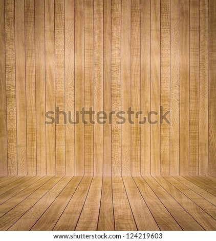 Abstract interior with parquet wooden floor #124219603