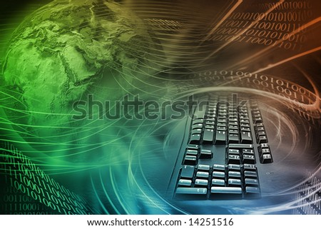Abstract Internet Background With Colors