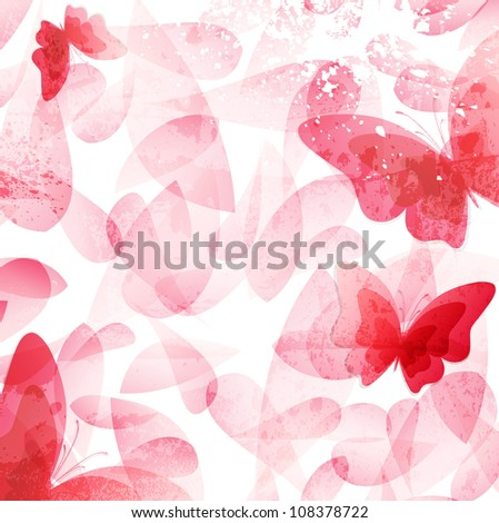 Abstract Invitation vintage floral background. - stock photo