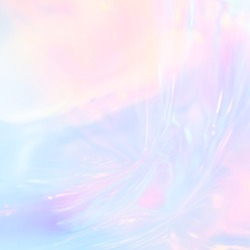 Abstract iridescent image of holographic plastic material in pastel colors.