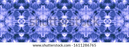 Abstract Japanese Stylized Decor. Washing Effect Patterns. Creative Design. Winterly Blue, Indigo On Light. Seamless Boho Background. Boho Gypsy.