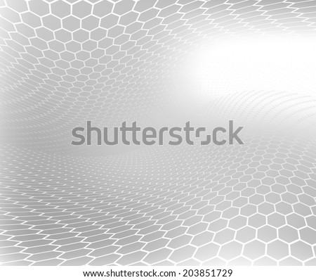 Abstract .jpg image of natural honeycomb swirl with black and white soft focus Background.