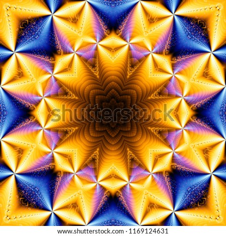 Abstract kaleidoscope gold multicolored texture. Illustration for design.