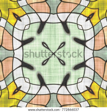 Abstract kaleidoscope- wall decor. Mandala- artistic illustration. Sacred geometry. Ornament mosaic- print napkins and tablecloths. #772866037
