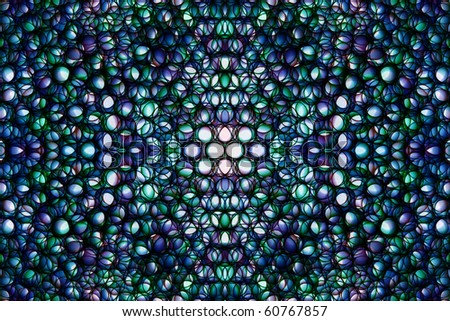 Abstract kaleidoscopical picture from multi-colored ringlets