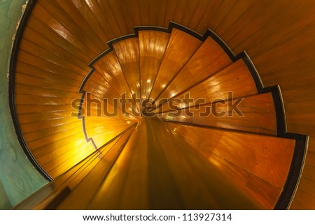 Abstract ladder background in warm tone