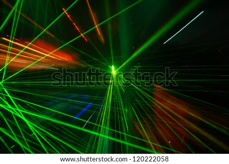 Abstract laser light