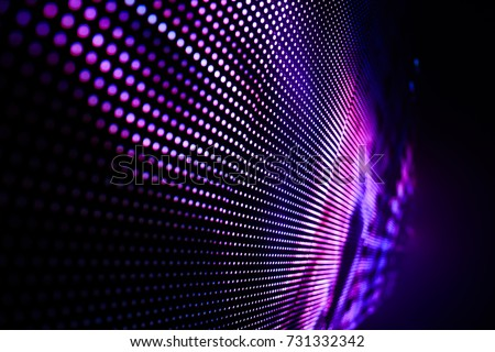 Abstract LED Light wall falling out of focus