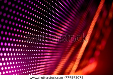Abstract LED Panel art  #779893078