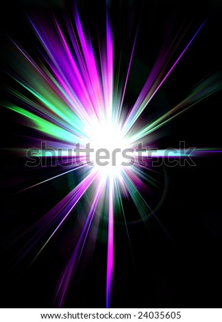 Abstract lens flare
