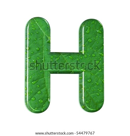 h letter in different style  abstract letter h;style: waterdrops