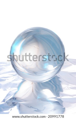 Abstract light and reflections around a crystal ball
