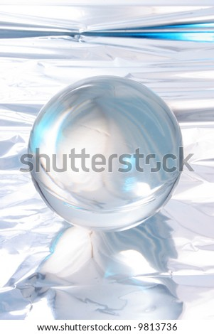 Abstract light around a crystal ball