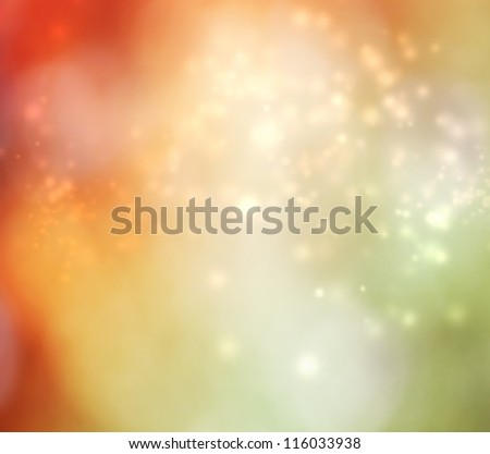 Abstract light background - orange and green
