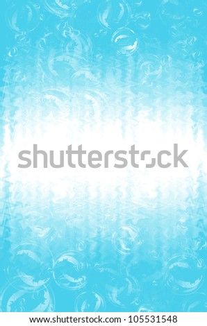 abstract light blue with bubble background.