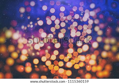 Abstract light celebration background with defocused golden lights for Christmas, New Year, Holiday, party  #1115360159