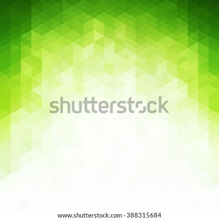 Abstract light green background. Geometric rattern/ green triangles.  Spring background