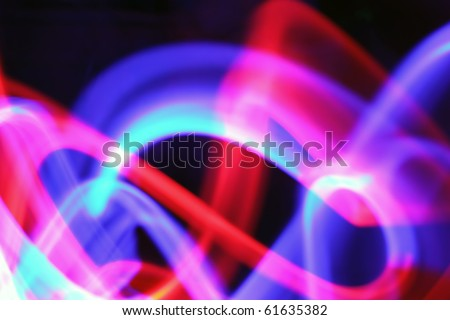 abstract light painting with blue red pink and over colors