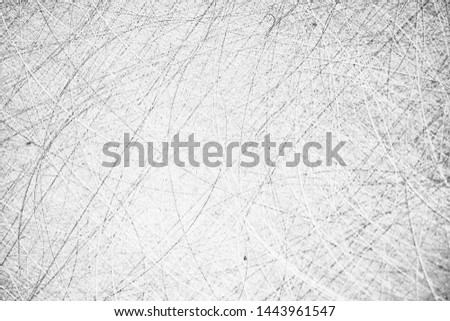 abstract light scratch background / white scratch damage, industrial wall material #1443961547