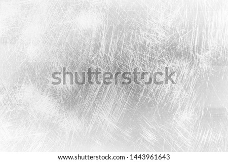 abstract light scratch background / white scratch damage, industrial wall material #1443961643