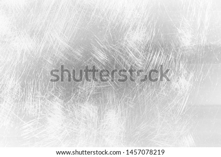 abstract light scratch background / white scratch damage, industrial wall material #1457078219