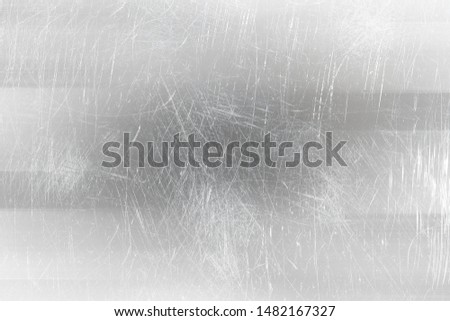 abstract light scratch background / white scratch damage, industrial wall material #1482167327